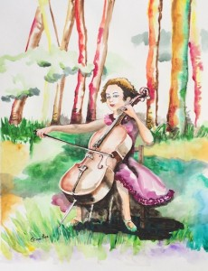 Jennifer and her cello music