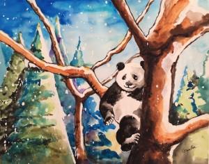 Panda at Christmas