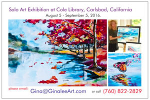 Come see Gina Lee Art in Carlsbad